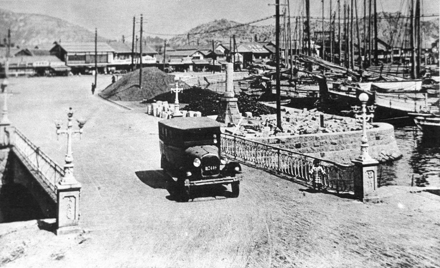 大正時代の旭橋の写真