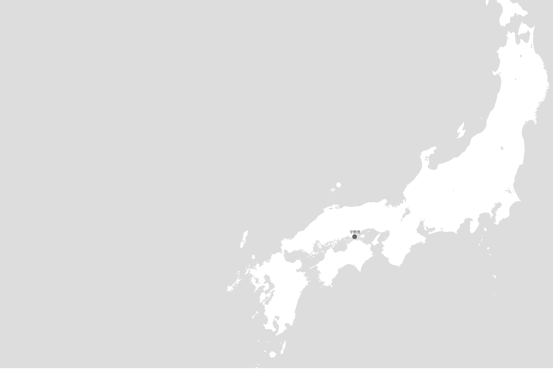 宇野港の位置