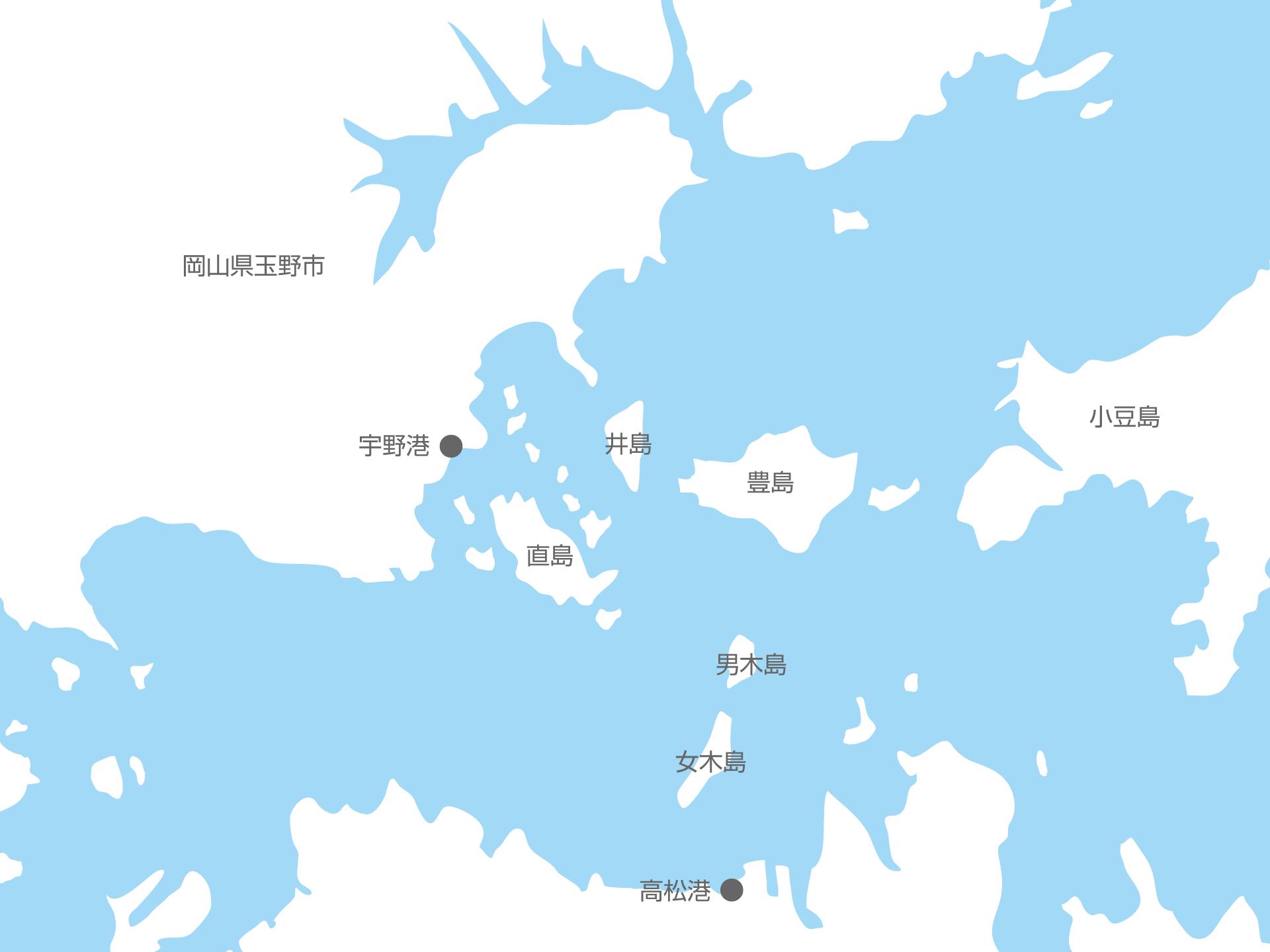 宇野港の略地図